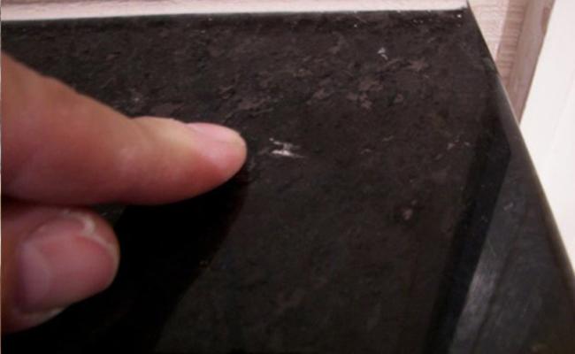 Chipped Granite Countertop