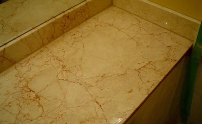 Damaged Marble Vanity Top